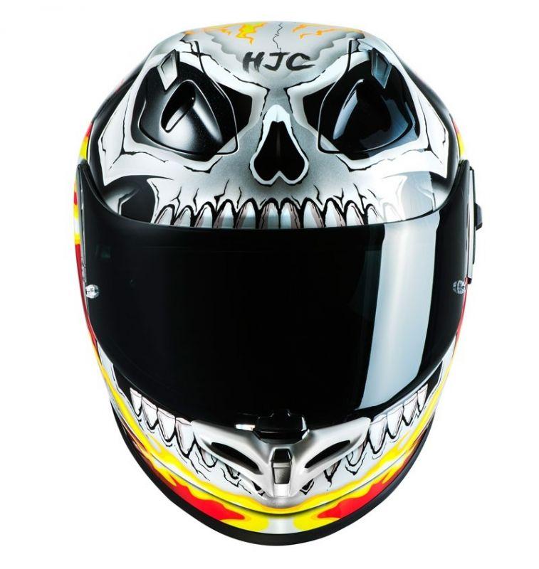 Casque moto ghost rider
