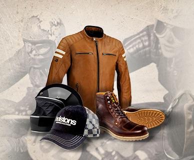 équipements moto vintage